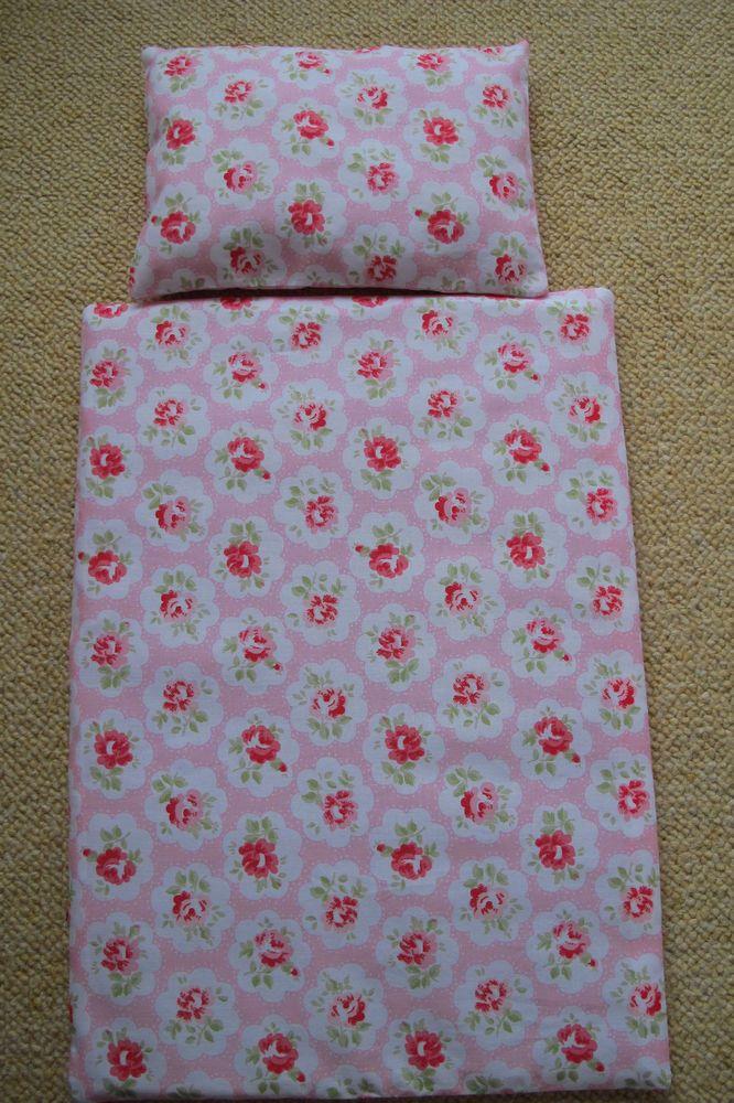 Cath Kidston Pink Provence Rose Dolls Bedding Duvet Pillow Cot Pram Blanket