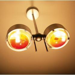 Photo of Top Light Puk Side Easy Twin Wand- oder Deckenleuchte, Halogen, Armlänge 20 cm, nickel matt Top Ligh