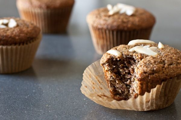 Muffin Love.   Made with ground almonds instead of flour, which means they're extra delicious and healthy at the same time.