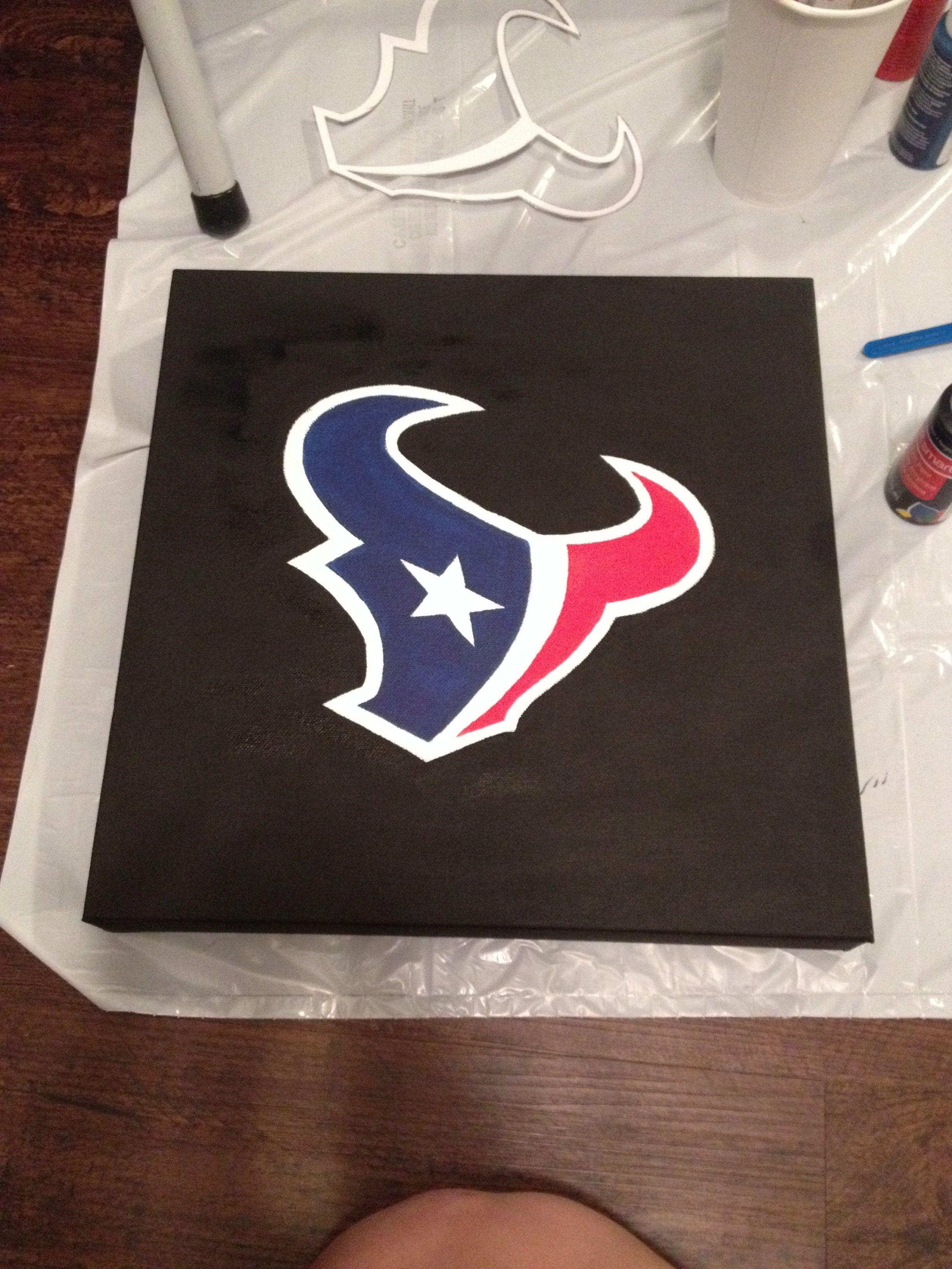 NFL logo on canvas. Wall art.