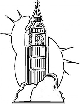 Big Ben In London Coloring Page Coloring Pages Big Ben London Clock Tower