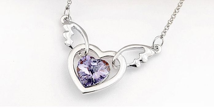 Image result for kalung love angel crystal