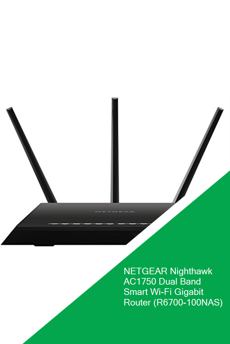 R6700-100NAS NEW NETGEAR Nighthawk AC1750 Dual Band WiFi 1GHz Smart Router