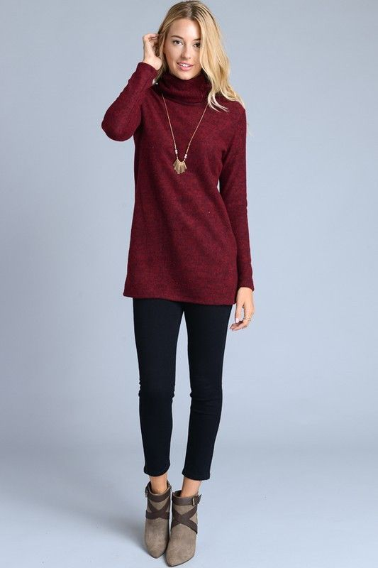 Laced Turtleneck Top - 2 Options
