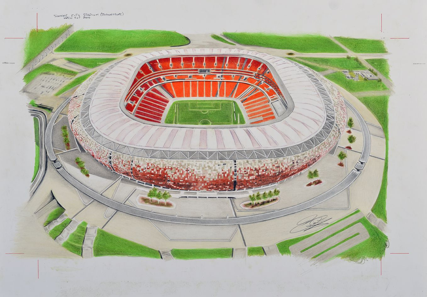 Soccer City Home Of The Kaiser Chiefs South Africa National Football Team By Brian Casey Available On Fantastic Merchan Soccer City City Art Mobile Covers