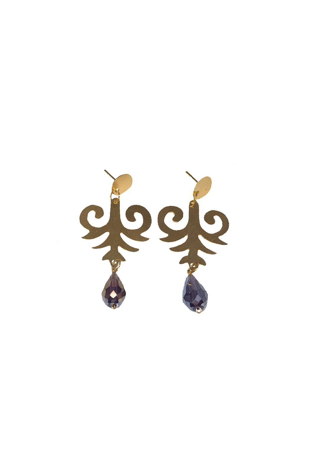 Gold-Plated Posts Backings.    Earrings Drop Length: 2 1/2''. Max Width: 1 1/4''   Arabesque Earrings by Llena eres de Gracia. Accessories - Jewelry - Earrings Florida