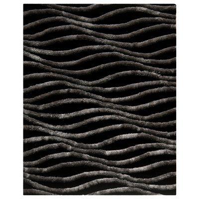 Safavieh SG551E Shag Area Rug, Black / Grey