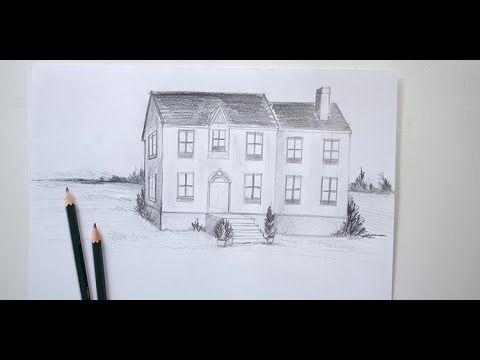 Tuto vidéo  apprendre les bases de la perspective en dessinant une - apprendre a dessiner une maison