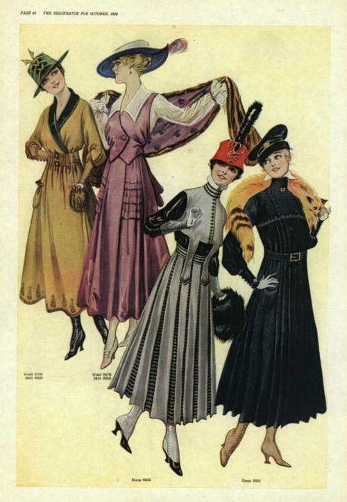 Vestidos, 1916 de Estados Unidos, la Delineator