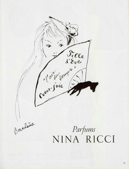 Nina Ricci Perfume Campaign, 1951