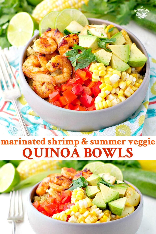 Marinated Shrimp And Summer Vegetable Quinoa Bowls Recipe