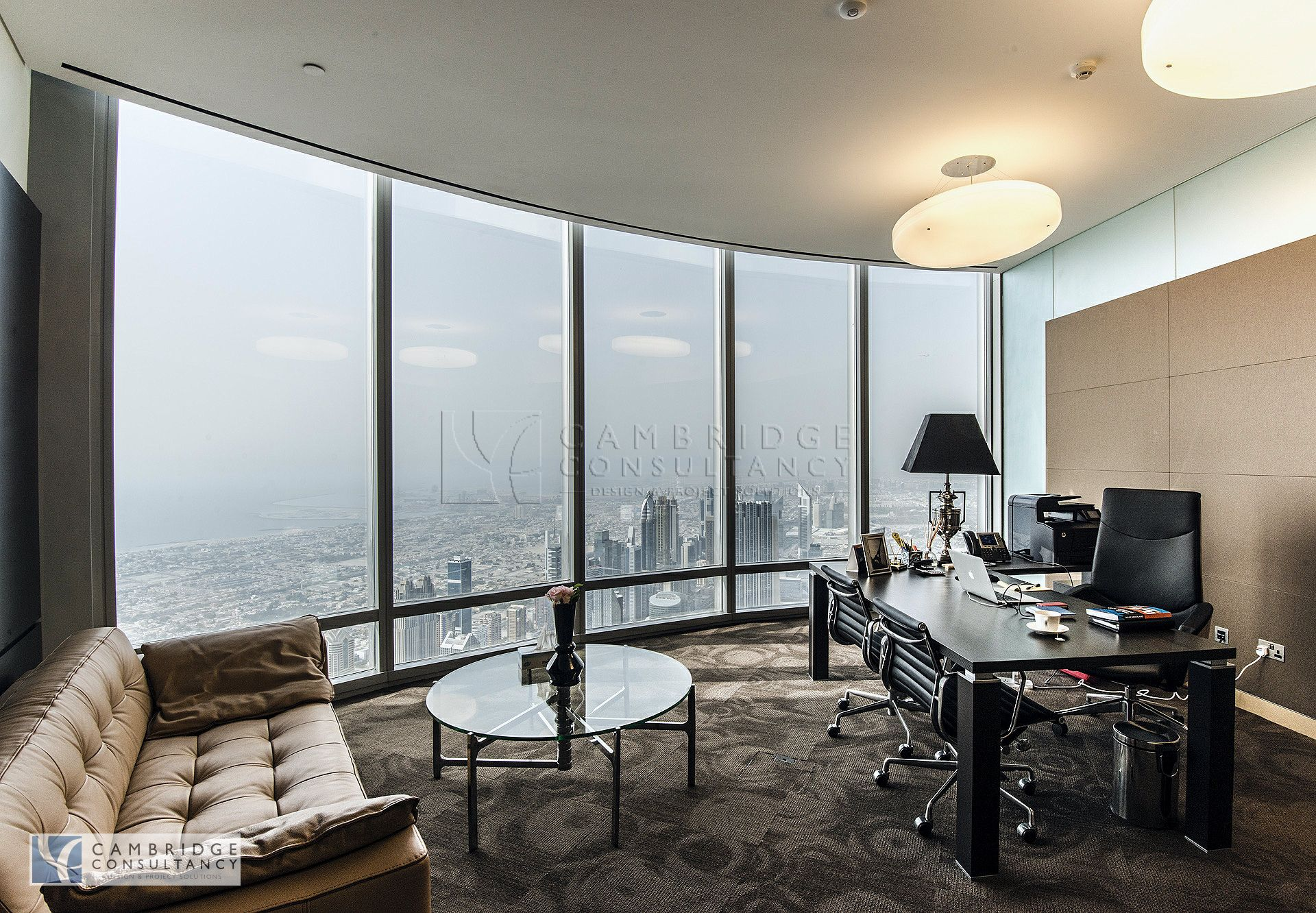 Honest re office inside burj khalifa full floor designed for Luxury design consultancy