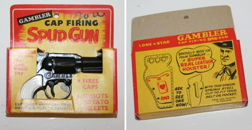 LONESTAR LONE STAR The Gambler cowboy toy potato spud Gun - mint in