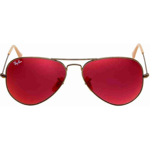 ray ban aviator espejo rojo precio