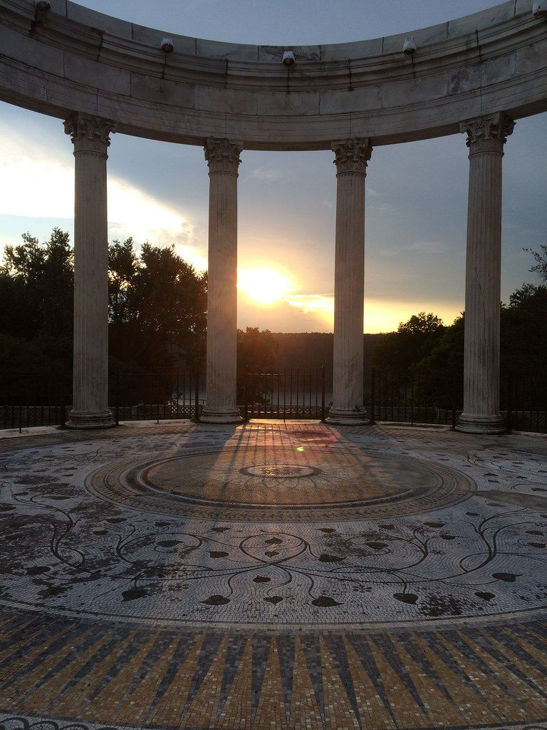 Sunset In The Temple Of The Sky At Untermyer Gardens In Yonkers