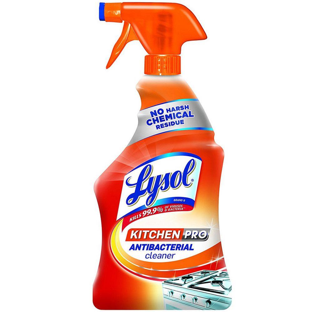Lysol Kitchen Pro Antibacterial Kitchen Cleaner Spray No Harsh Chemicals 22 Oz Kitchen Cleaner Bathroom Cleaner Lysol