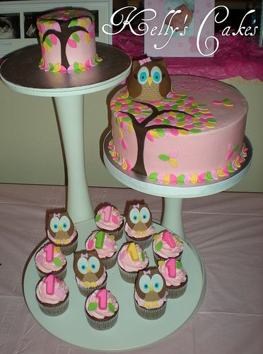 Owl Cakes and Cupcakes