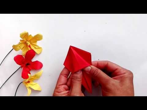 Origami tutorial another kind of lily flower youtube origami origami tutorial another kind of lily flower youtube mightylinksfo