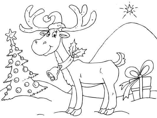 Pin by Coloring Pages 4 U on Free Christmas Coloring Pages