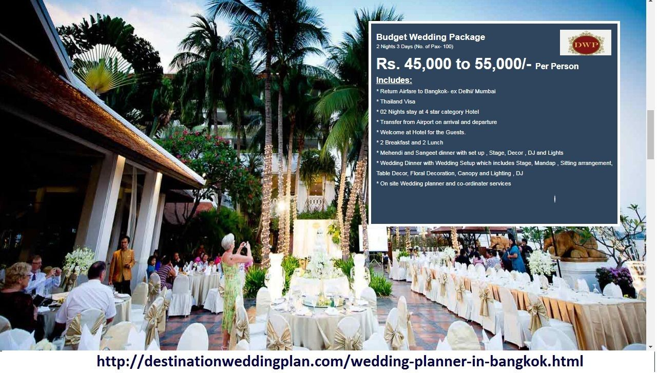 Destination Wedding Planner DWP Helps To Explore Venues Studios In Bangkok Cheap Vacation Tour Packages At Affordable Cost