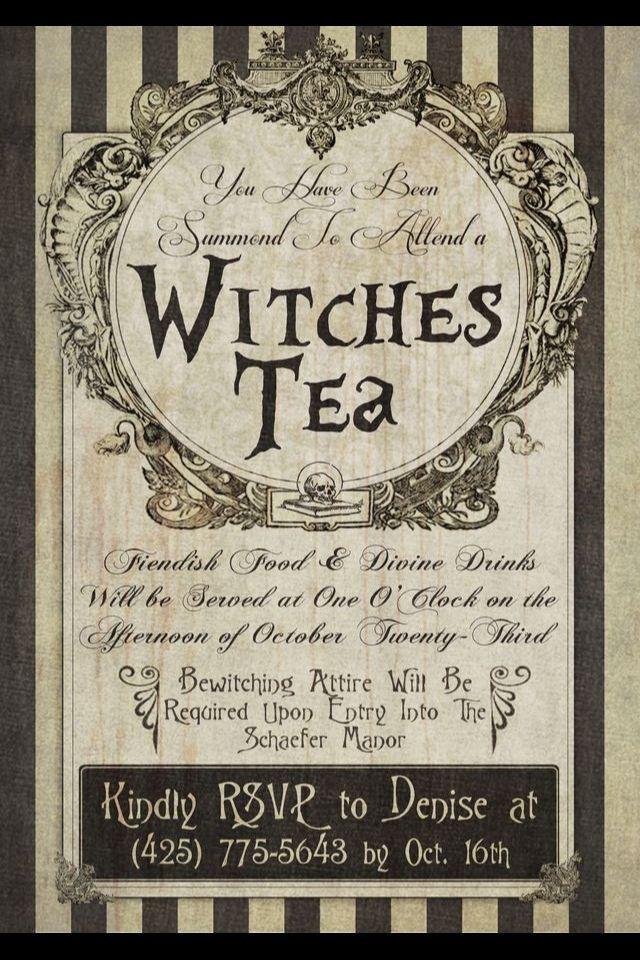 Tea: Witches #Tea Invitation. | Tea Time | Pinterest | Witches, Teas ...