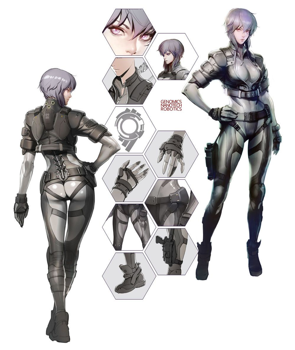 Ghost In The Shell 2 0 Ghost In The Shell 攻殻機動隊 2 0 Gōsuto In Za Sheru Kōkaku Kidōtai 2 0 Is A Concept Art Characters Ghost In The Shell Character Concept