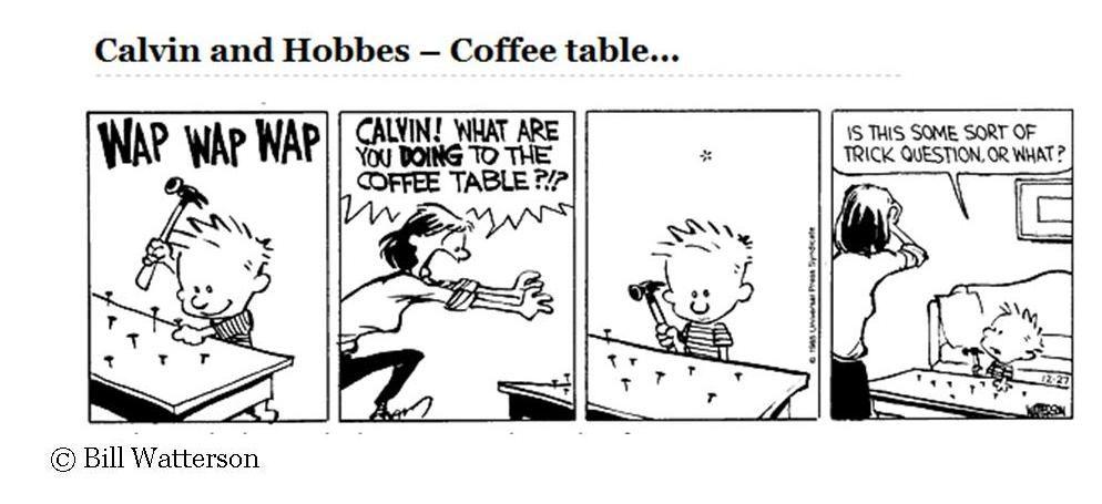 Calvin And Hobbes Coffee Table.White City Stories Part Four Motherhood Calvin Hobbes Comics