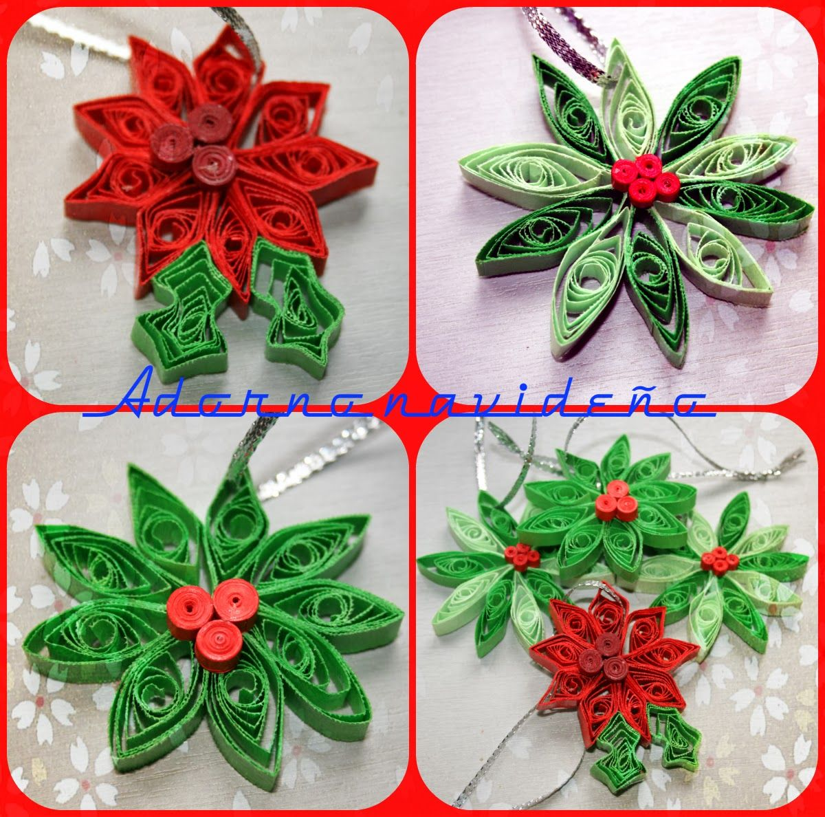 Tarjetas navide as en filigrana de papel buscar con for Navidad adornos manualidades navidenas