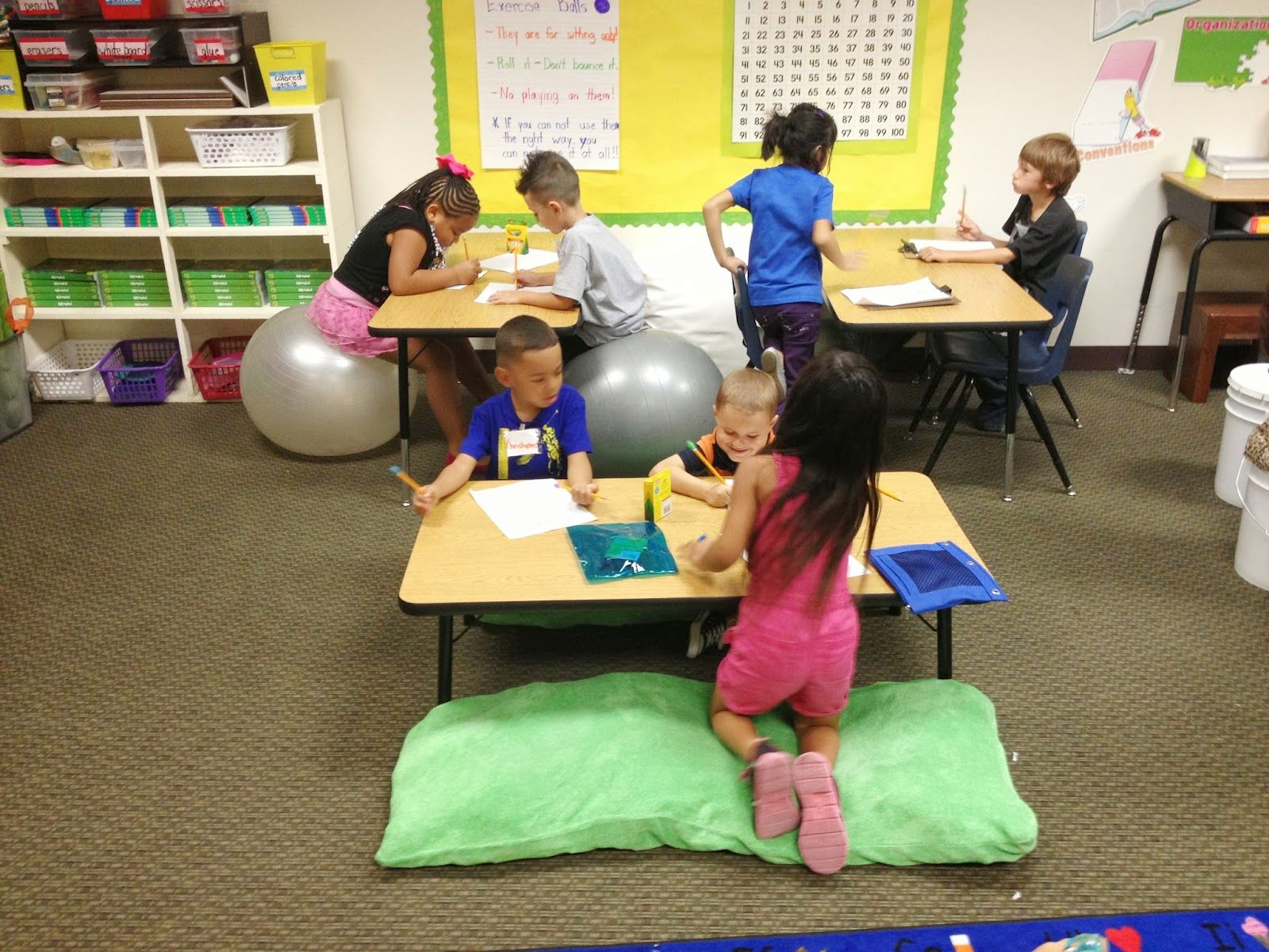 Classroom Ideas For Sensory Integration : Alternative seating in action for children the