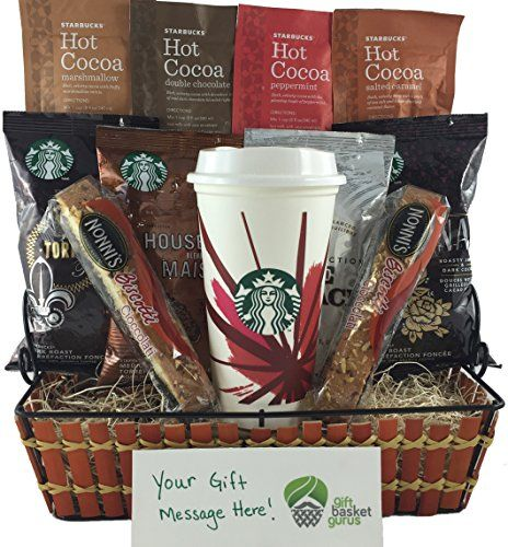 Authentic Starbucks Holiday Gift Basket, ,