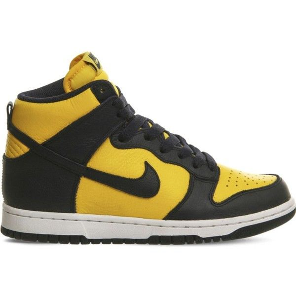 Nike Dunk Retro Qs Leather High Top Trainers Nike Dunks Navy Leather Shoes Top Leather Shoes