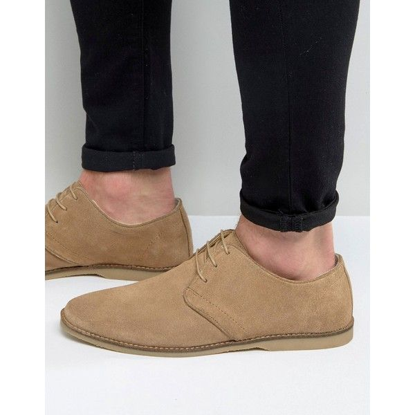 ASOS Derby Shoes in Stone Suede With