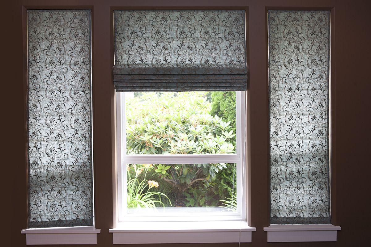 Roman Shades Linen Custom Made In Canada Nikkidesigns