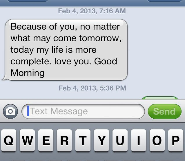 Every girl should get a good morning text like this. | Love ...