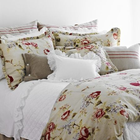 I pinned this Vivienne Duvet Cover from the Old World Romance event at Joss and Main! Anchor your bedroom in Old World appeal with the Vivienne Duvet Cover, showcasing a romantic floral motif and reversible design.