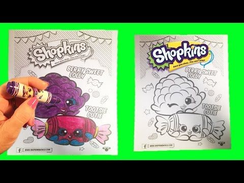 Shopkins Coloring Page Berry Sweet Lolly Tootsie Cutie Crayola Splashlings Toy Video Little Wishes