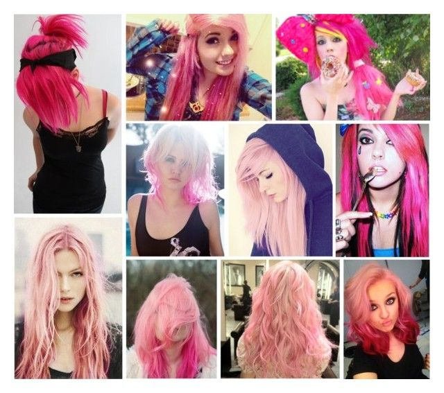 """""""More Pink Hair"""" by ahminathegreat ❤ liked on Polyvore featuring beauty"""