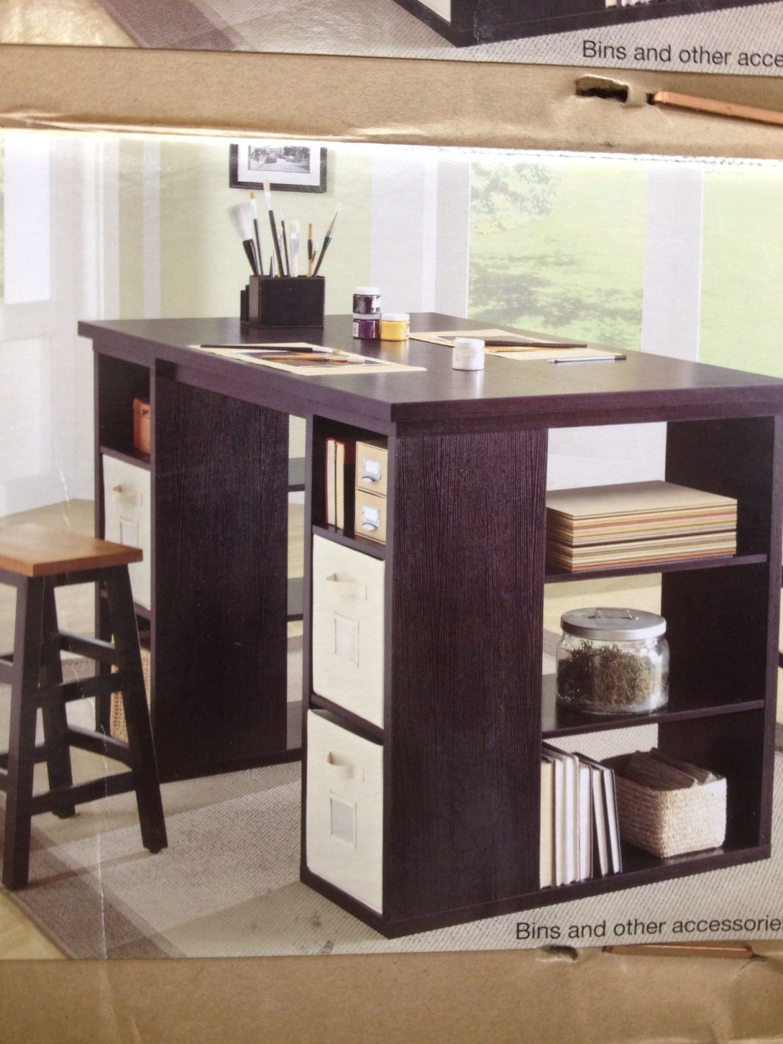 Under 200 At Costco And Sturdy Bayside Furnishings Project Table Craft Room Decor