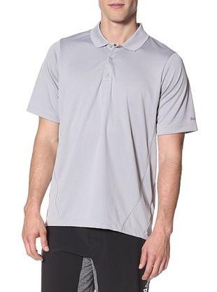 57% OFF Reebok Men's Play Dry Polyester Polo Tee (Tin Grey)