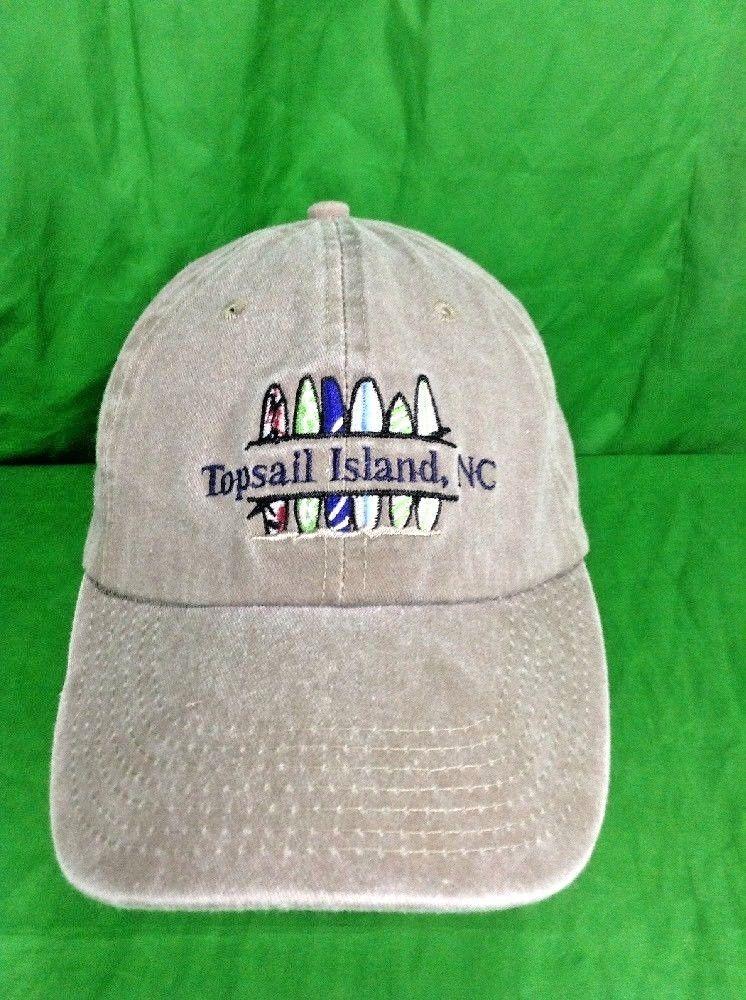8ddd52f93c556 Topsail Island NC North Carolina Fishing Surfing Beach Camp Hat Strapback  Twill  BJRClassicHeadwear  DadHat