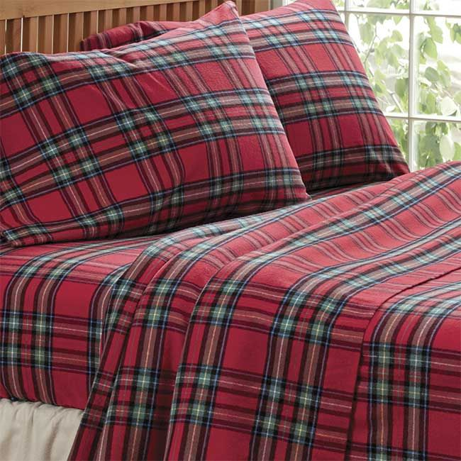 Tartan Flannel Sheet Set And Bedding Tartan Flannel Sheet Set And Sham Plaid Bedding Plaid Sheets Tartan Plaid Christmas