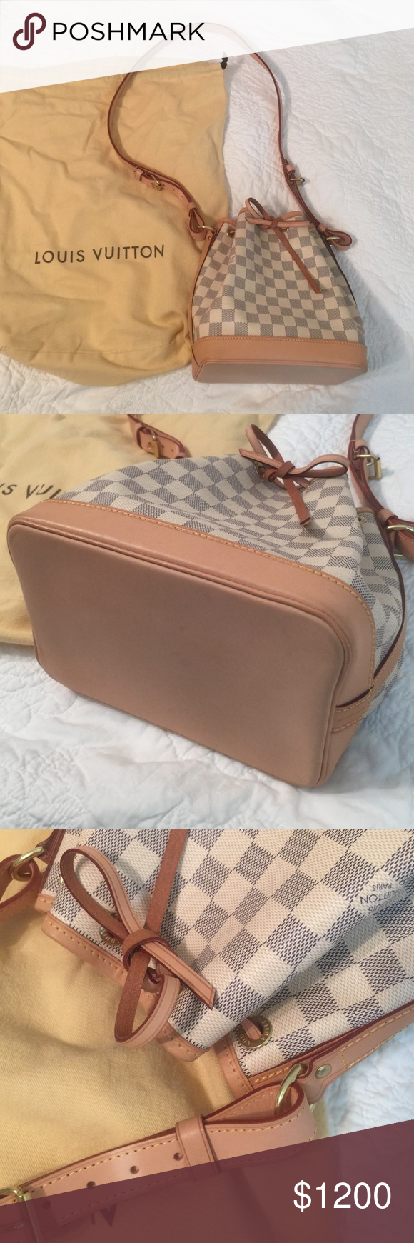 ff6b8f16f NEW PICS - Louis Vuitton Noe BB Very lightly used condition, only used a  couple times. Can provide LV authenticity! Slight discoloration from where  it was ...