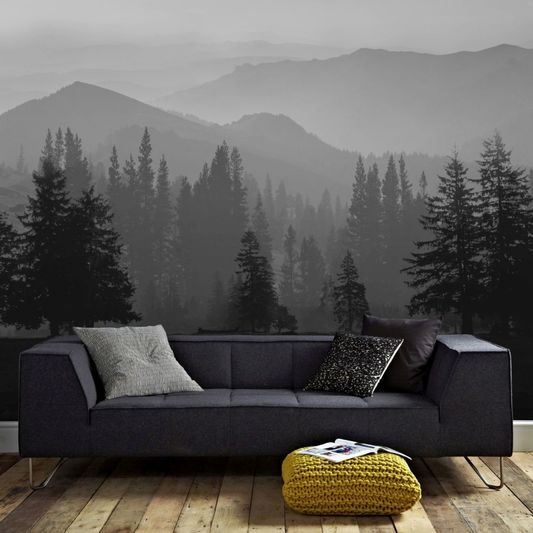 Misty Mountains Ready Made Mural, , large Mountain mural