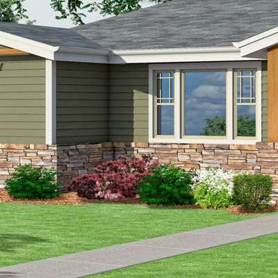 Photoshop Redo Craftsman Makeover For A No Frills Ranch House