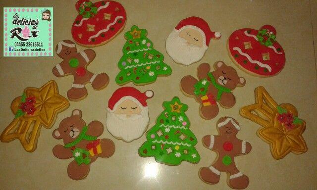 6 galletas decoradas de mantequilla decoradas con fondant de la casa  $100.00   Pedidos lasdeliciasderox@hotmail.com whatsap 5522615511