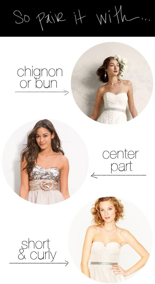 Short Curly Hair Dress Hairstyles Strapless Dress Hairstyles Prom Hair