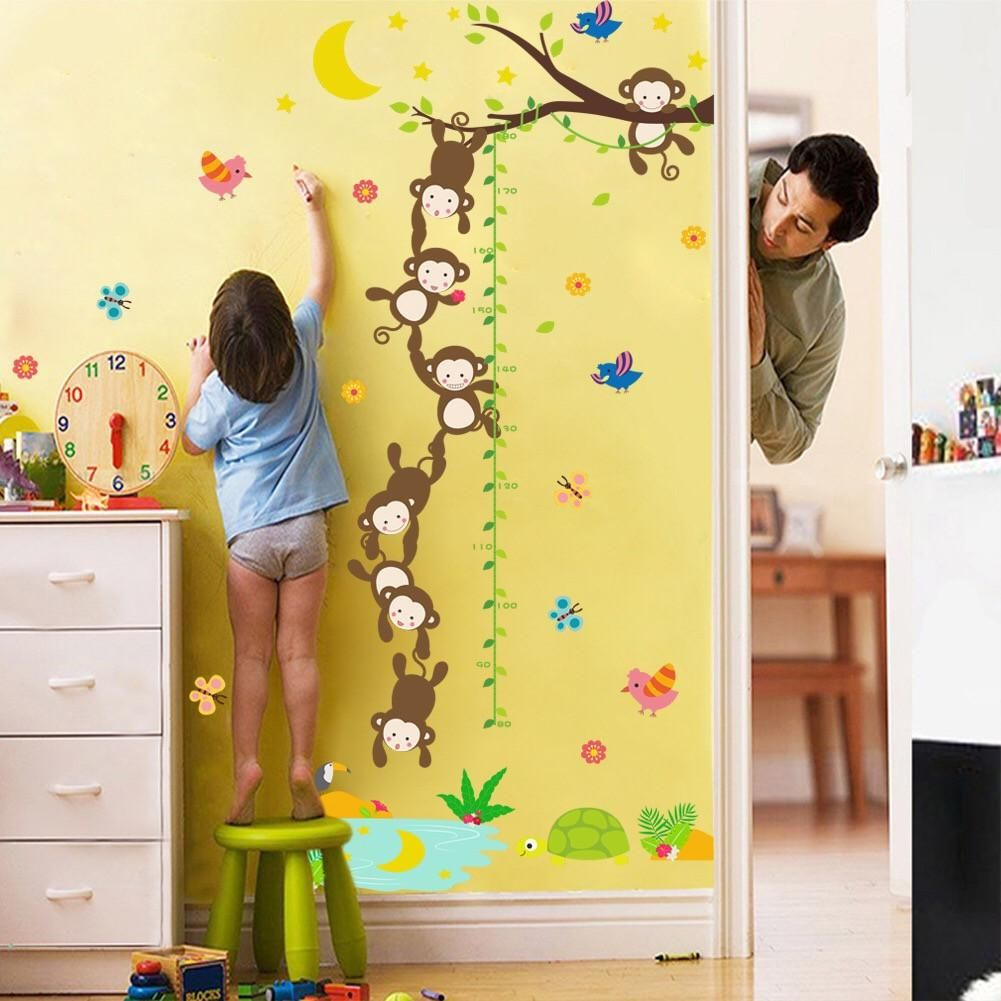 Kids Growth Height Wall Decal – the treasure thrift | Child Height ...