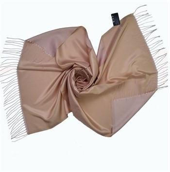 Sarar Taffeta Hijab Shawl - Cream & Dusty Pink