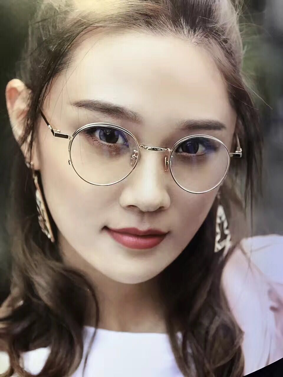 5a2be703db3c53 2018年トレンド眼鏡メガネレトロおしゃれ人気メガネトレンド女性通販メガネ近視度入りフレーム ブランド風伊達めがねフレーム 金属メタル度なし男向け小さい顔超軽量