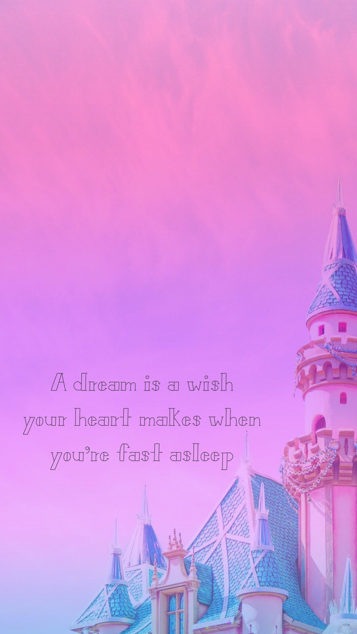 A Dream Is A Wish Your Heart Makes Wallpaper Disney Iphone Hd
